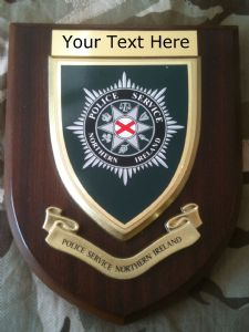 Police Service Northern Ireland PSNI Personalised Military Wall Plaque